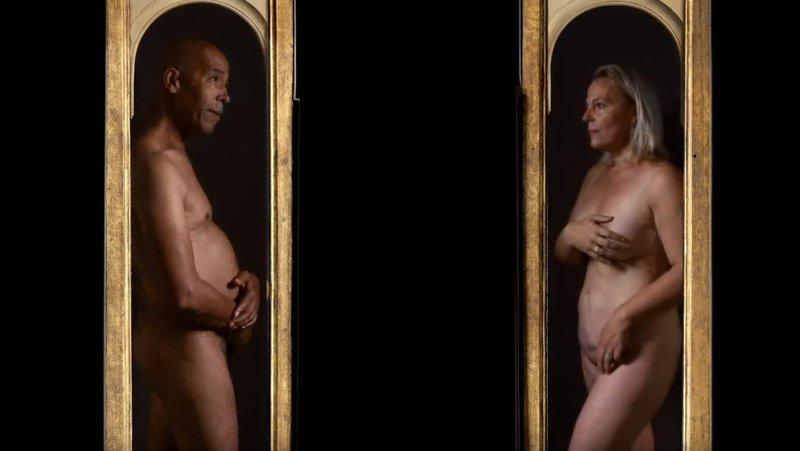 Van Eyck: Adam en Eva.