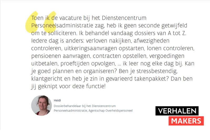storytelling voor employer branding - Vlaamse overheid